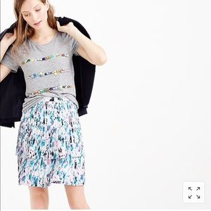J. Crew Two Tier Pleated Floral Watercolor Skirt 4